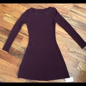 American Apparel Long Sleeve Ponte Mini Dress
